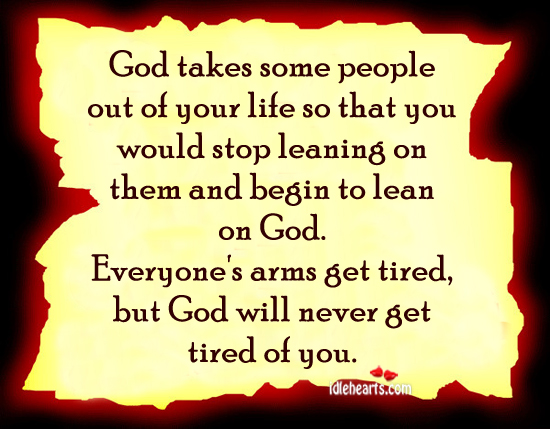 God Takes Some People Out Of Your life So That….
