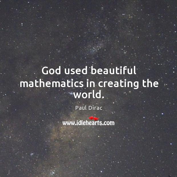 God used beautiful mathematics in creating the world. Image