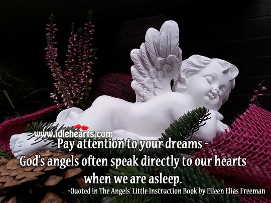 Image, God's angels often speak directly to our hearts