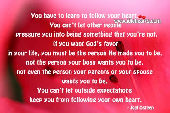 Be the person God made you to be, not the one your boss want to be. Image