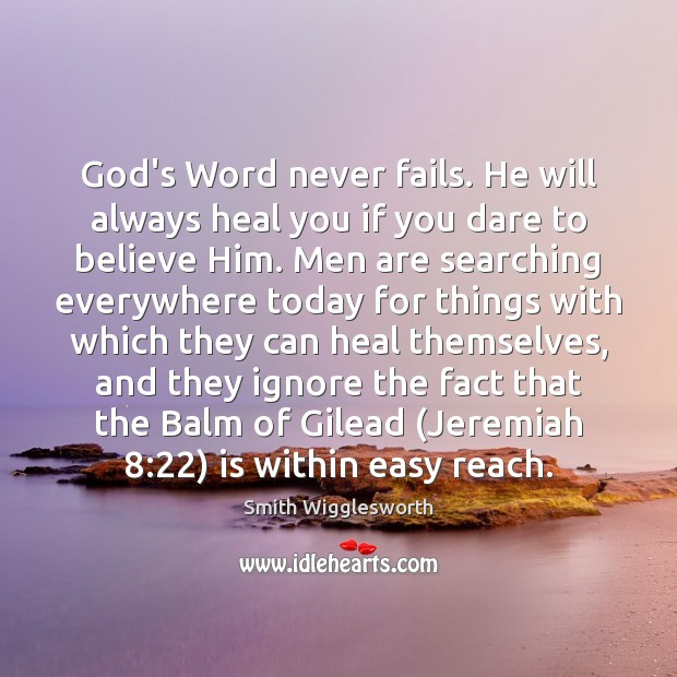 Picture Quote by Smith Wigglesworth