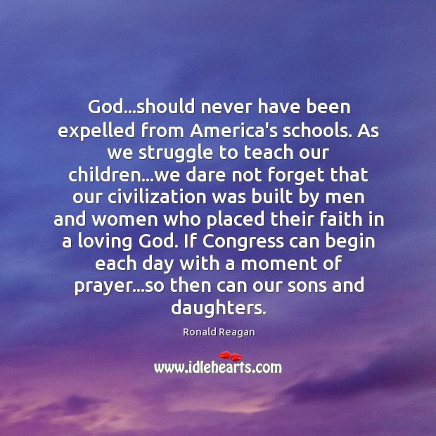 Image, God…should never have been expelled from America's schools. As we struggle