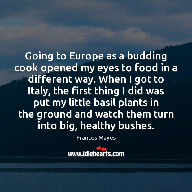 Going to Europe as a budding cook opened my eyes to food Image