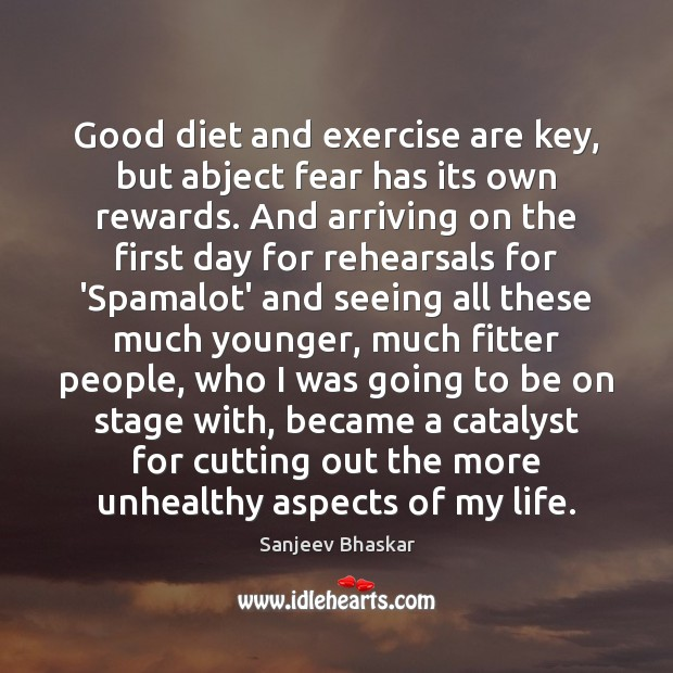 Good diet and exercise are key, but abject fear has its own Image