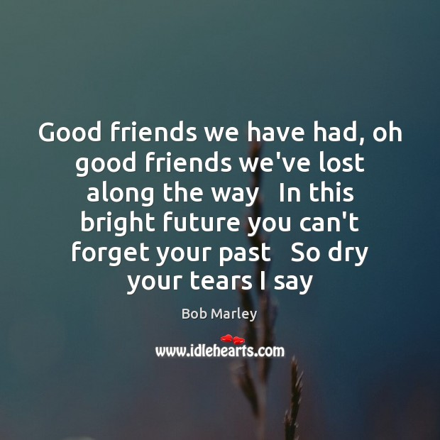 Good friends we have had, oh good friends we've lost along the Image