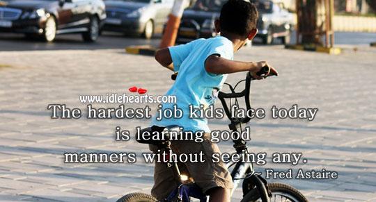 The hardest job kids face today. Image