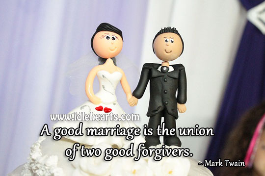 Image, A good marriage is the union