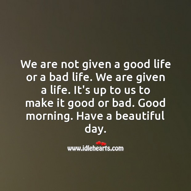 Good morning. Have a beautiful and productive day. Good Morning Quotes Image
