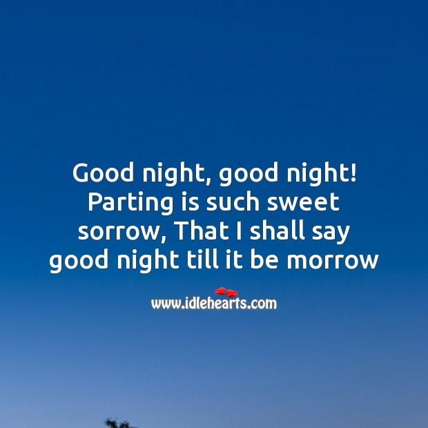 Image, Good night, good night!