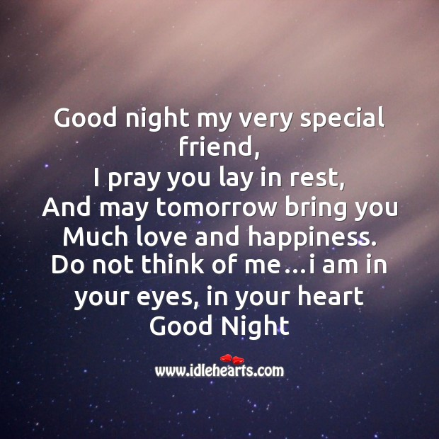Good night my very special friend Image