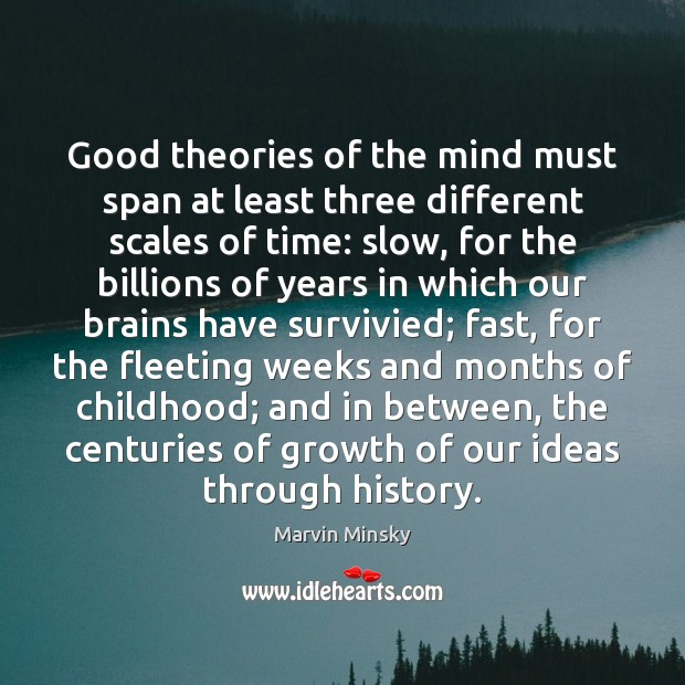 Good theories of the mind must span at least three different scales Image