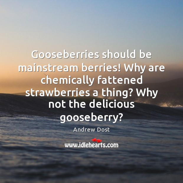 Image, Gooseberries should be mainstream berries! Why are chemically fattened strawberries a thing?