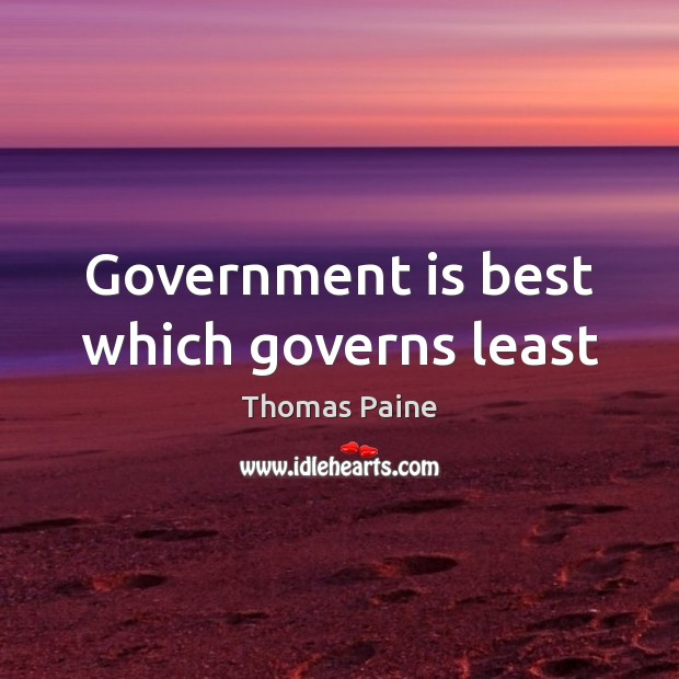 Image, Government is best which governs least