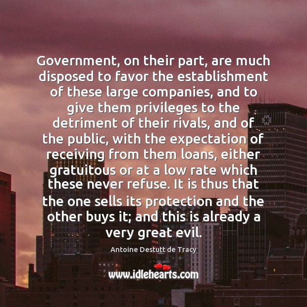 Image, Government, on their part, are much disposed to favor the establishment of