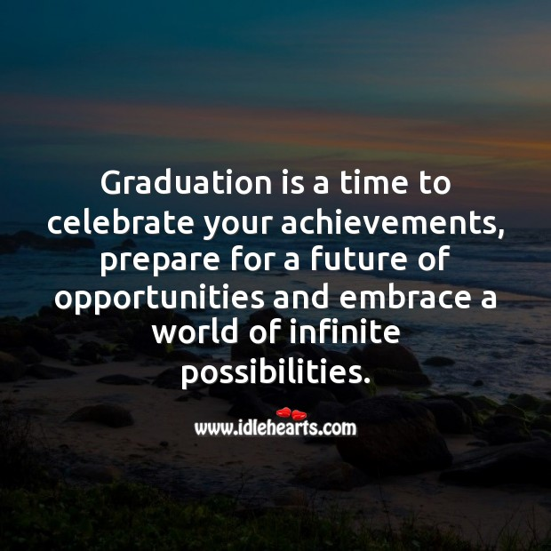Graduation is a time to celebrate your achievements. Celebrate Quotes Image