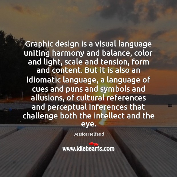 Image, Graphic design is a visual language uniting harmony and balance, color and