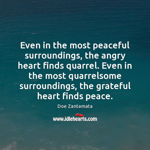 Grateful heart finds peace. Peace Quotes Image