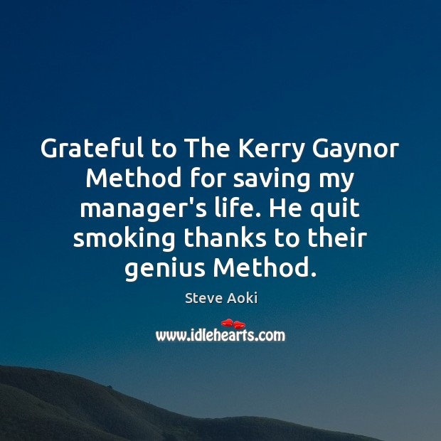Grateful to The Kerry Gaynor Method for saving my manager's life. He Image