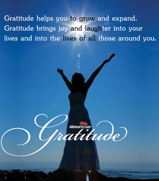 Gratitude Helps You To Grow And Expand…