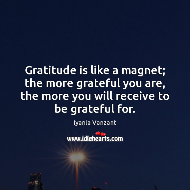 Image, Gratitude is like a magnet; the more grateful you are, the more