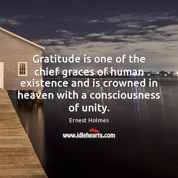 Gratitude is one of the chief graces of human existence and is Image