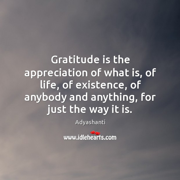 Image, Gratitude is the appreciation of what is, of life, of existence, of