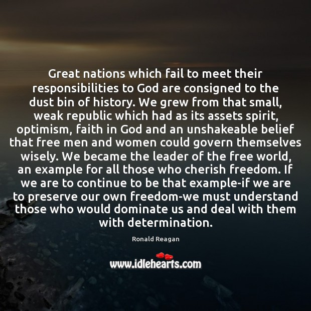 Image, Great nations which fail to meet their responsibilities to God are consigned