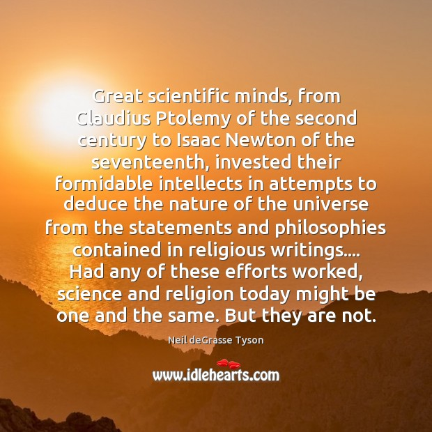 Great scientific minds, from Claudius Ptolemy of the second century to Isaac Image