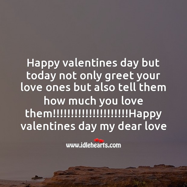 Greet your love ones Valentine's Day Messages Image