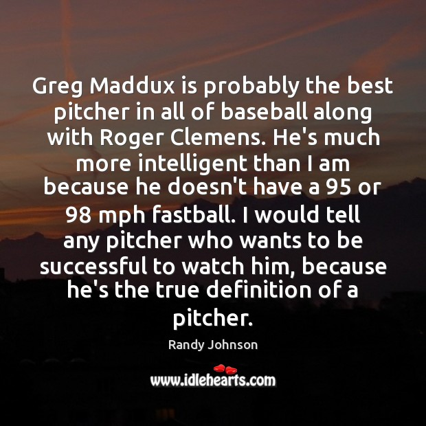 Greg Maddux is probably the best pitcher in all of baseball along Image