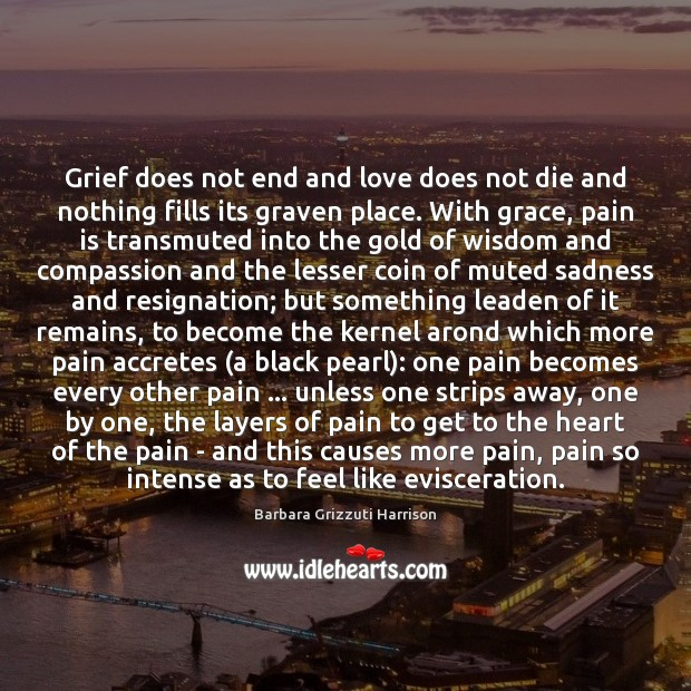 Image, Grief does not end and love does not die and nothing fills