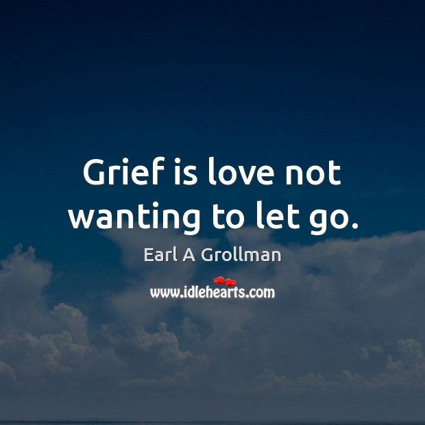 Grief is love not wanting to let go. Image