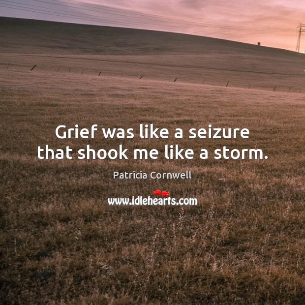 Grief was like a seizure that shook me like a storm. Image