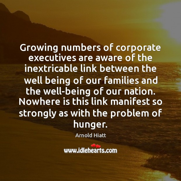 Image, Growing numbers of corporate executives are aware of the inextricable link between