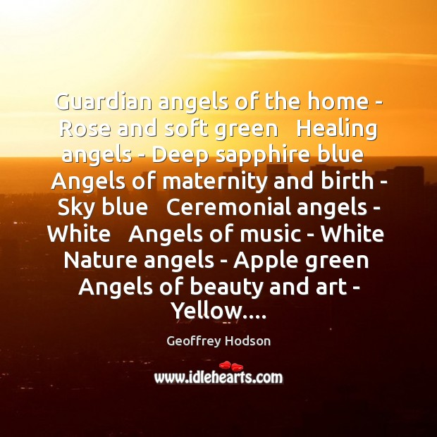 Guardian angels of the home - Rose and soft green Healing angels