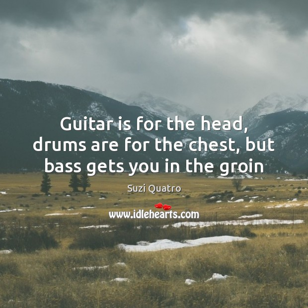 Image, Guitar is for the head, drums are for the chest, but bass gets you in the groin
