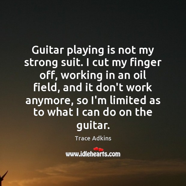 Guitar playing is not my strong suit. I cut my finger off, Image