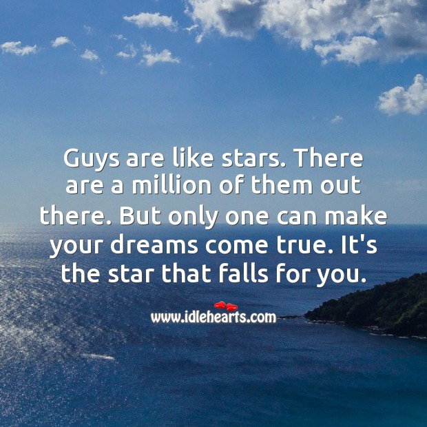 Guys are like stars. Falling in Love Quotes Image