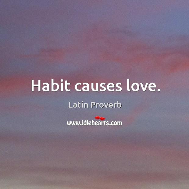 Image, Habit causes love.