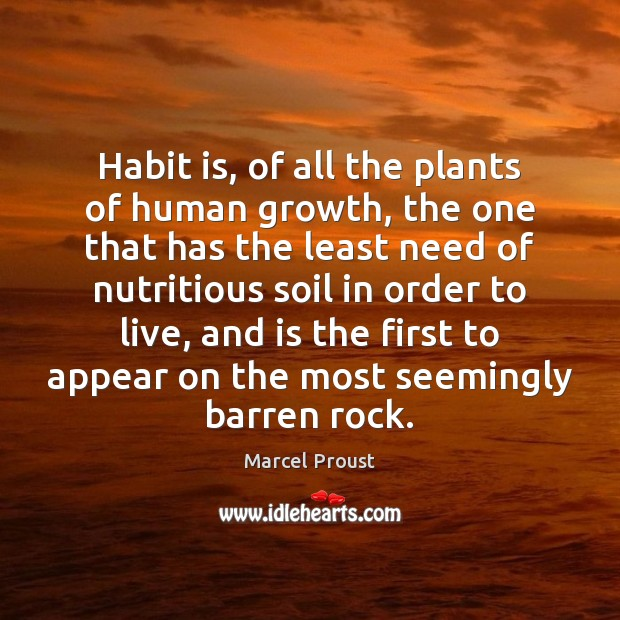 Image, Habit is, of all the plants of human growth, the one that