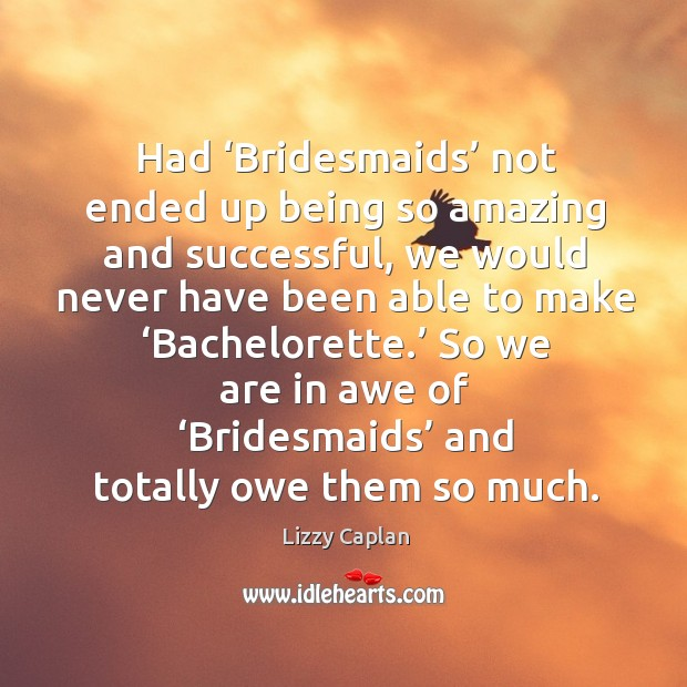 Image, Had 'bridesmaids' not ended up being so amazing and successful