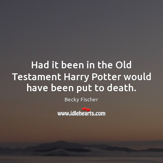 Image, Had it been in the Old Testament Harry Potter would have been put to death.