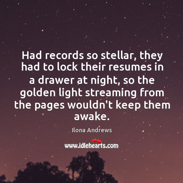 Had records so stellar, they had to lock their resumes in a Image