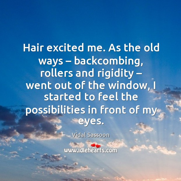 Hair excited me. As the old ways – backcombing Image