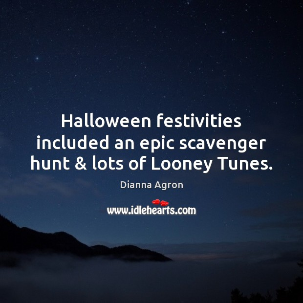 Image, Halloween festivities included an epic scavenger hunt & lots of Looney Tunes.