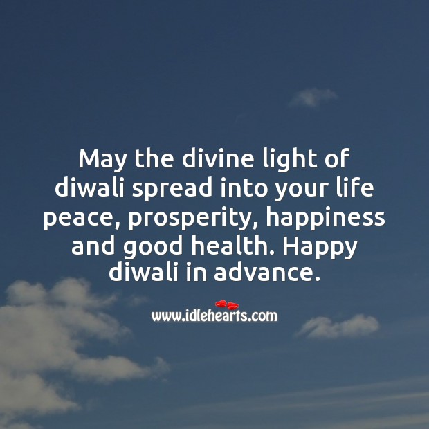 Happiness and good health Diwali Messages Image
