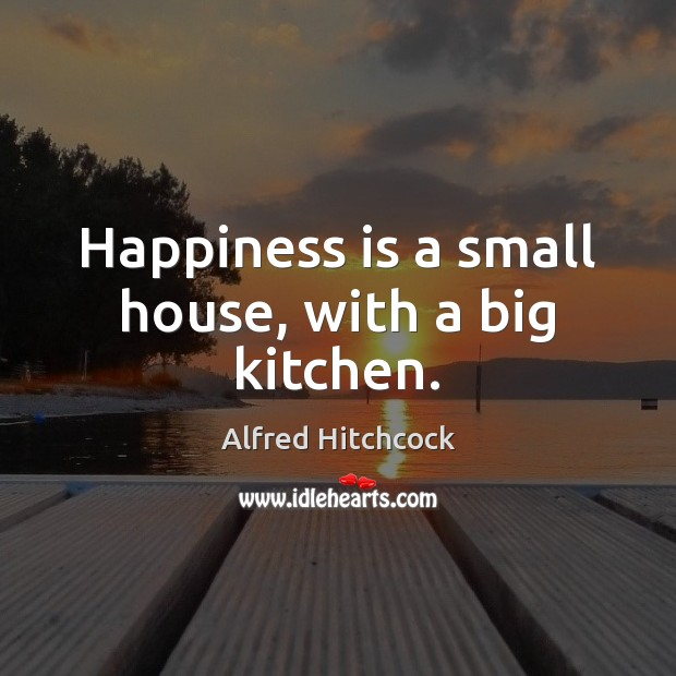 Image about Happiness is a small house, with a big kitchen.