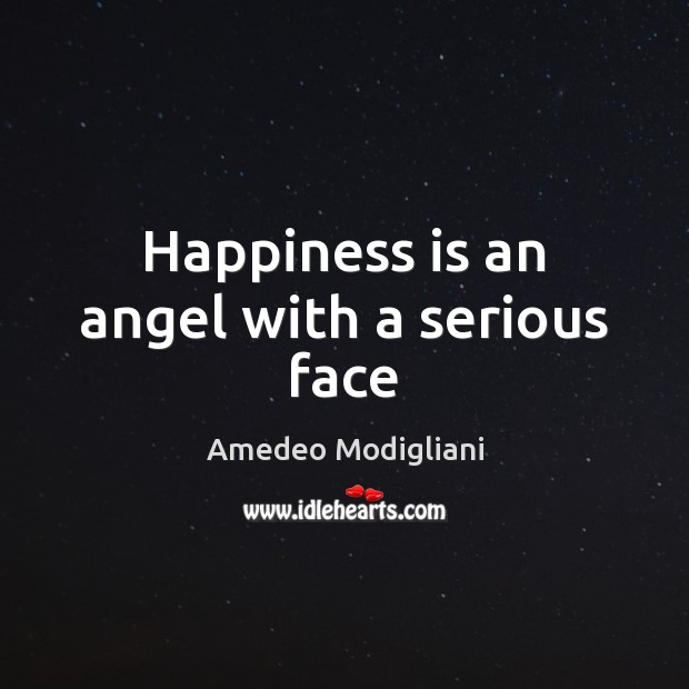 Image, Happiness is an angel with a serious face