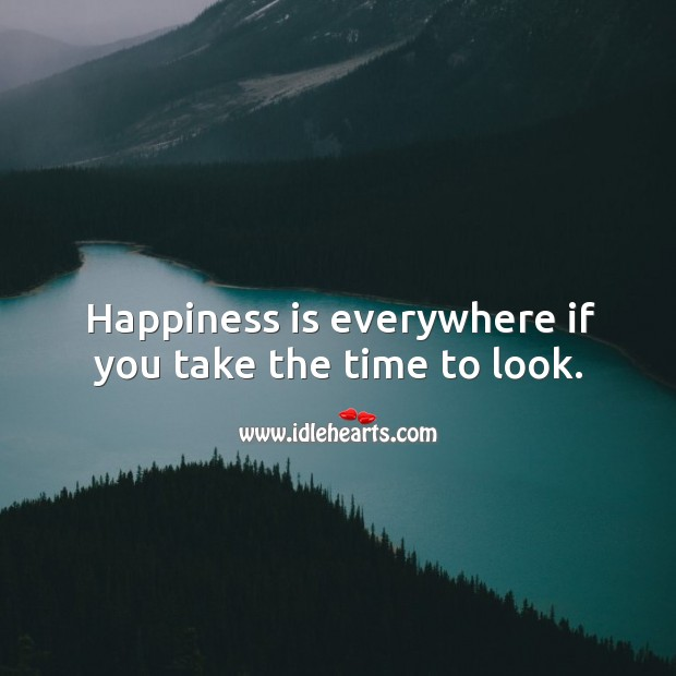 Happiness is everywhere. Image