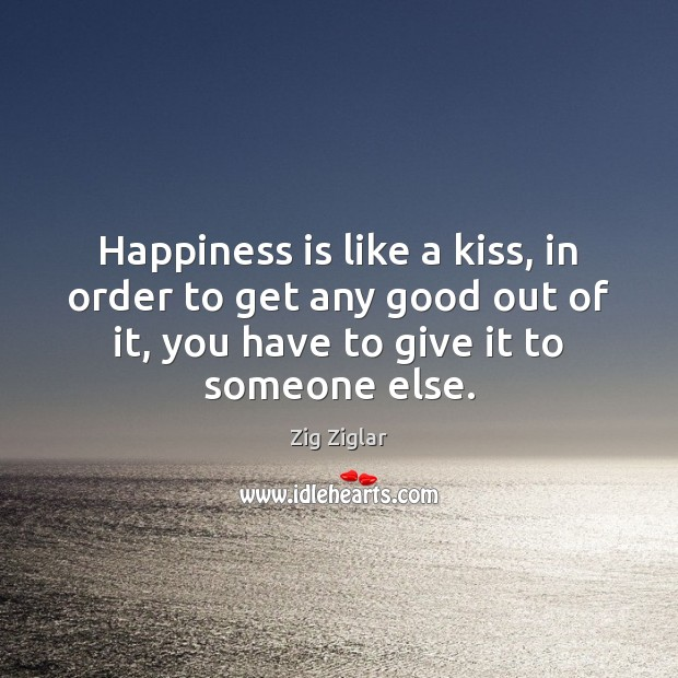 Image, Happiness is like a kiss, in order to get any good out